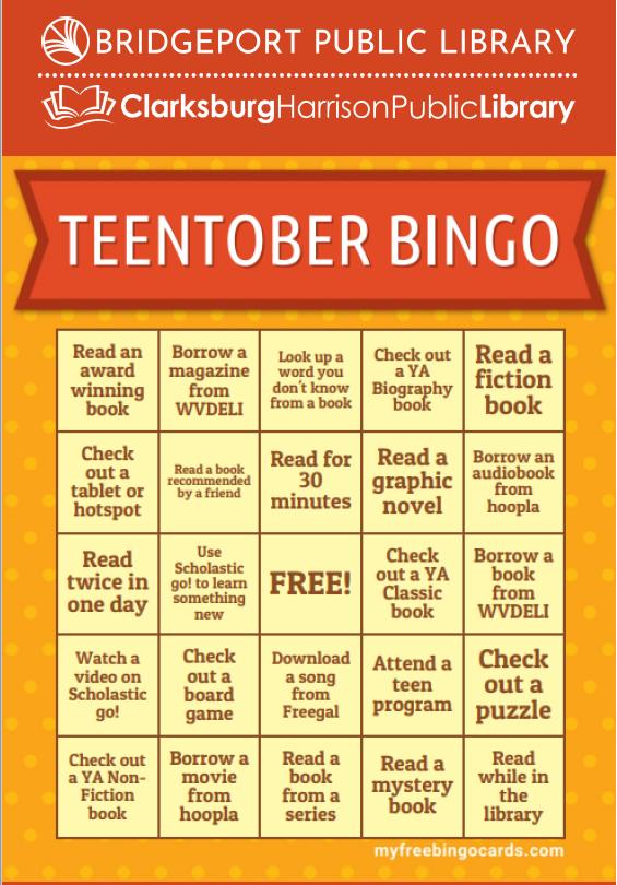TeenTober Bingo